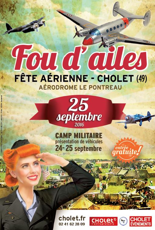 Cholet tourisme fou d'ailes fête aérienne aérodrome pontreau camp militaire aéromodélisme baptême de l'air