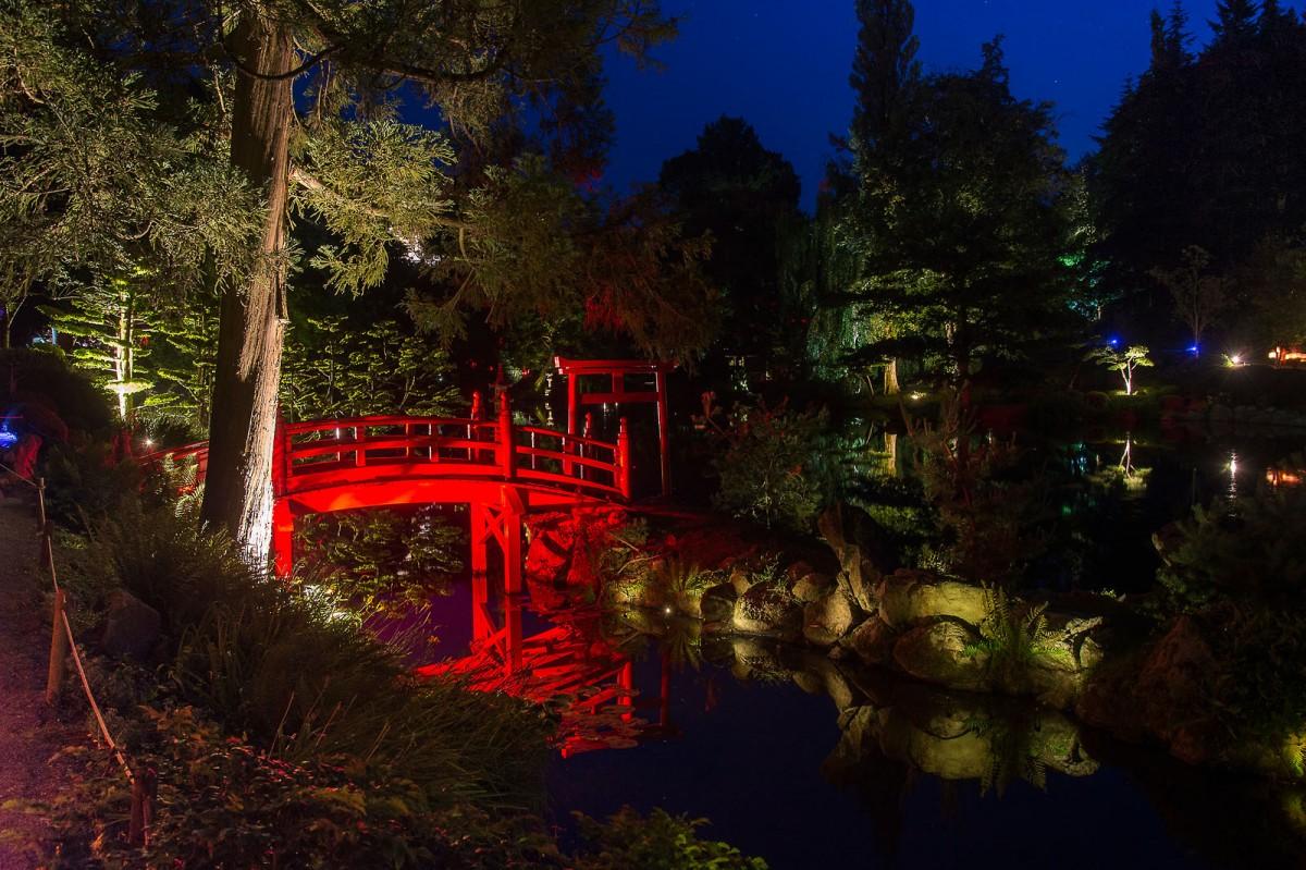 Cholet tourisme parc oriental jardin japonais plus grand d'europe zen maulévrier nocturne