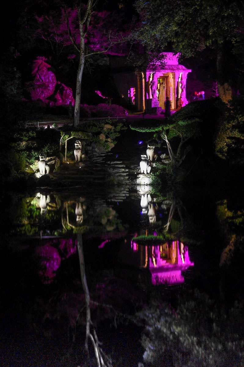 Cholet tourisme nature Maulévrier parc oriental jardin japonais lieux de visites incontournable nocturne