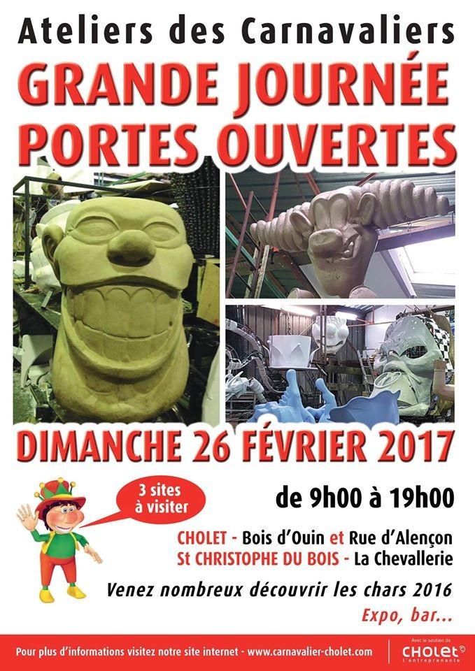 Cholet tourisme portes ouvertes carnavaliers carnaval char 100ème édition confection
