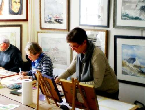 Cholet activités et loisirs créatifs cours d'aquarelle atelier Lamati Cholet