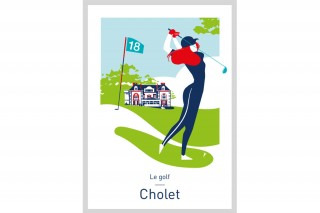 Affiche Illustrée Le Golf - Cholet