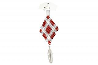 Bijoux - perles de rocailles et plumes