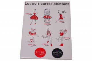 lot-de-6-cartes-postales-rouge-collection-501119