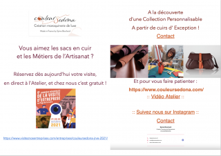 Visite d'entreprise - Couleursedona création maroquinerie