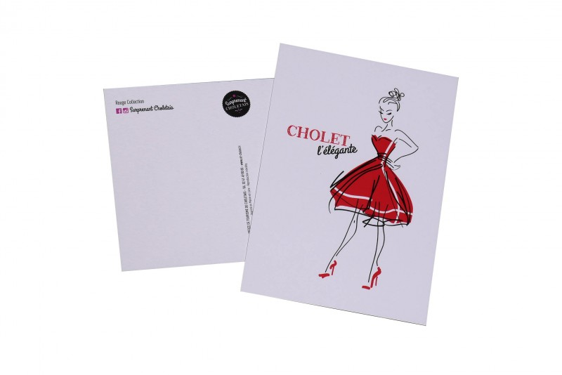 Cholet tourisme boutique rouge collection carte postale