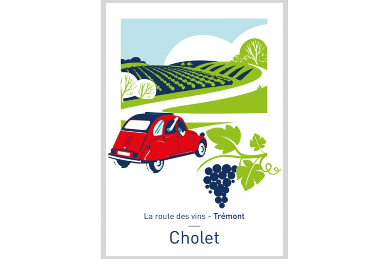 Carte postale Illustrée La Route des Vins - Trémont