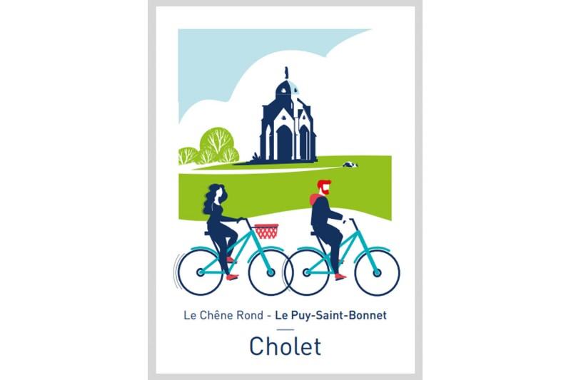Carte postale Illustrée Le Chêne-Rond - Le Puy-Saint-Bonnet