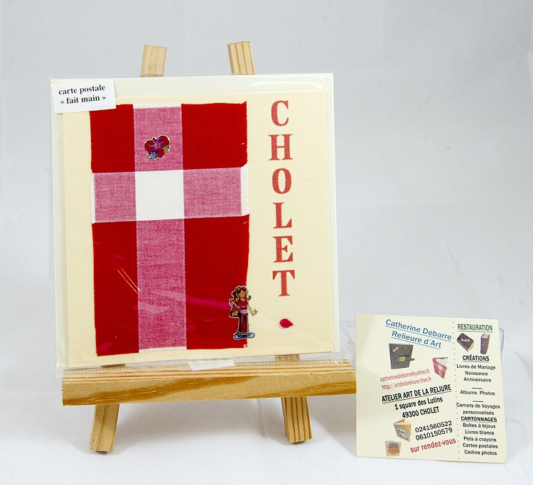 Carte postale Mouchoir tissu