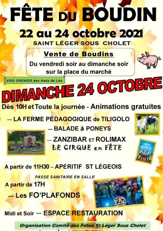 Fête du Boudin St Léger Sous Cholet