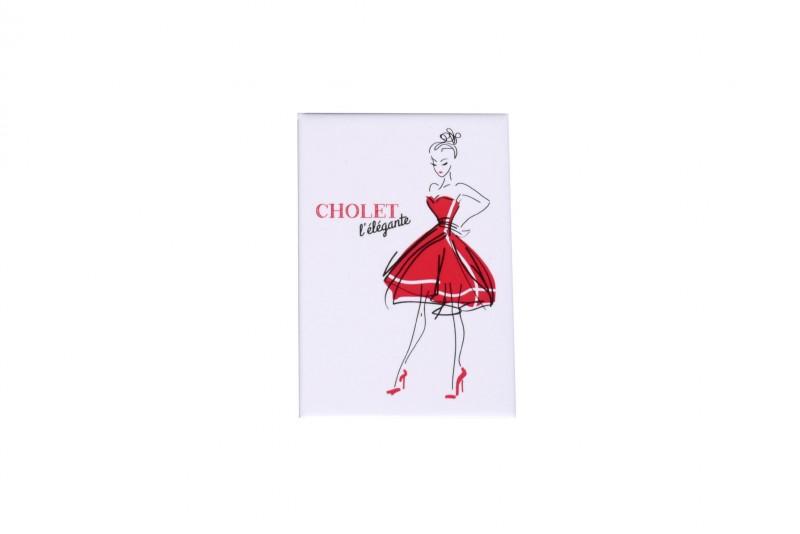 Cholet tourisme boutique Rouge Collection magnet Elégante Mouchoir