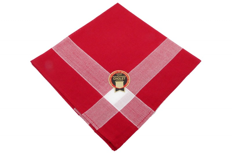 mouchoir de Cholet simple rouge