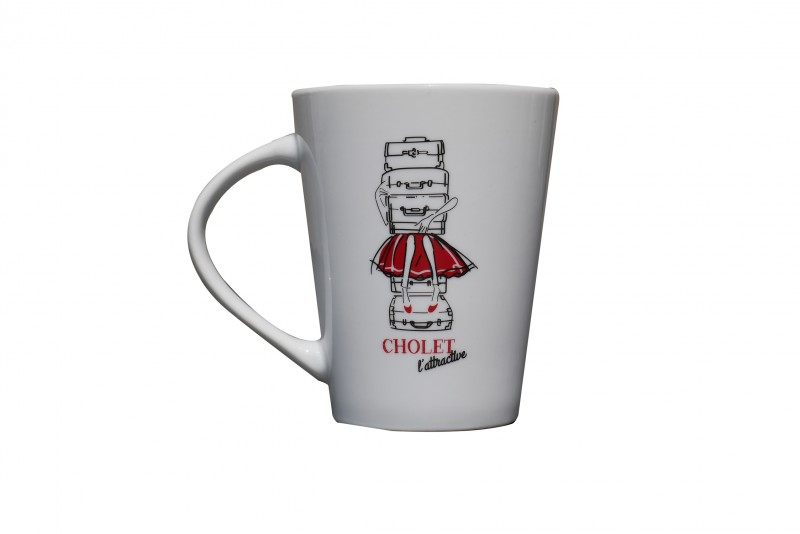 Cholet tourisme boutique Rouge Collection Mouchoir Surprenant Choletais Mug