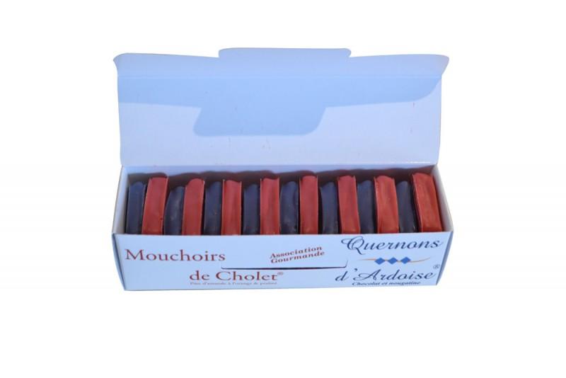 Réglette duo chocolats - Mouchoir de Cholet® et Quernons d'Ardoise